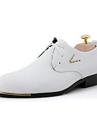 Для мужчин обувь Дерматин Весна Лето Осень Зима Удобная обувь Формальная обувь Туфли на шнуровке Заклепки Шнуровка С металлическим носком