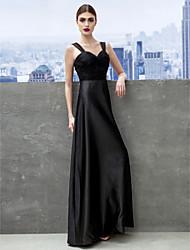 Formal Evening / Black Tie Gala Dress Sheath/Column Sweetheart Floor-length Satin / Tulle