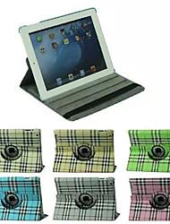 Gittermuster 360 Grad PU-Leder Ganzkörper-Fall mit Ständer für iPad 4/3/2 (verschiedene Farben)