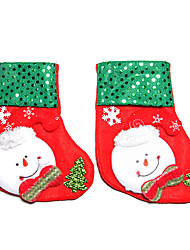 Non-woven Fabric Christmas Small Sock(2 PCS)