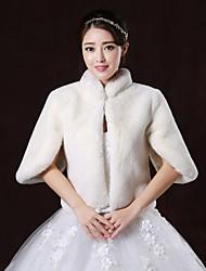 Wedding / Party/Evening Faux Fur Boleros Half-Sleeve Wedding  Wraps