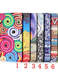 For Case Cover with Stand Auto Sleep / Wake Origami Full Body Case Geometric Pattern PU Leather for iPad Mini 4