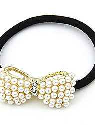 Lady Pearl Big Bow Hair Tie Hairbands