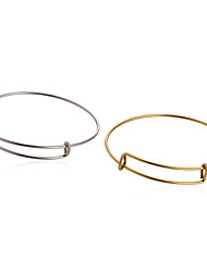 5pcs/lot Adjustable Expandable Wire Bangle Bracelet for DIY Jewelry (Internal Diameter :65mm)