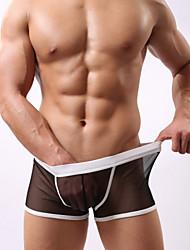 Сексуальные платья / Обтягивающий силуэт - MEN - Нижнее белье ( Сетка Со стандартной талией - Шорты