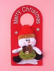 "23CM/9"" Christmas Decoration Gift Doornob Snowman Doll Hanging Plush Toy New Year Gift"