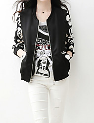 Women's Vintage Casul Party Work Plus Sizes Long Sleeve Print Jackets