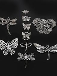 beadia borboleta de metal&pingentes de prata antigo encanto libélula acessórios DIY
