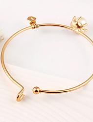 Bracelet/Charm Bracelets / Bangles Imitation Pearl Circle I Birthday / Party Jewelry Gift Gold Women's Fashion Christmas