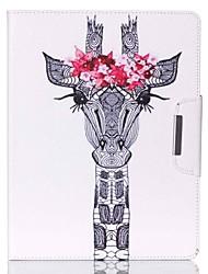 Hirschkopf-Muster PU-Leder Ganzkörper-Fall mit Ständer für iPad 4 / ipad 3 / iPad 2