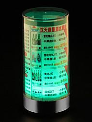 Weinkarte Tischleuchte Dekoration kreative Lampe bar abs LED-Licht L9 * H19cm 0,5 W