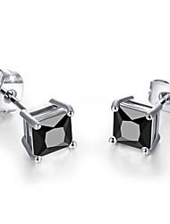 Earring Stud Earrings Jewelry Women Birthstones Wedding / Party / Daily / Casual Zircon 1set Silver