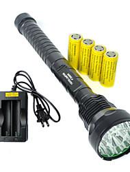 Светодиодные фонари LED 5 Режим 19000 ЛюменВодонепроницаемый / Перезаряжаемый / Ударопрочный / Экстренная ситуация / ударный корпус /