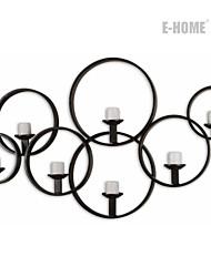 E-HOME® Metal Wall Art Wall Decor,Circular Pattern Candlestick Wall Decor One PCS