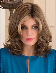 Beautiful  And Fashion European Medium Long Bob Blonde Synthetic Wave