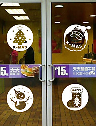 Window Stickers Window Decals Style New Year's Christmas Gift Window Glass Decoration PVC Window stickers