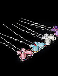 Women's Alloy Acrylic Butterfly Hair Bob Hairpin