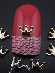 Милый - Стразы для ногтей - 100pcs - 3*4mm - Металл - Пальцы рук