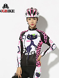 2015 New Cat girl Spring Autumn Winter Cycling jersey Long Sleeve Cat Girl Cycling Clothing Women's Cycling Jersey