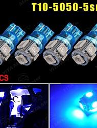 4x T10 bleu ultra 5 SMD 5050 LED voiture dôme W5W licence carte de lumière 158 192 194 168