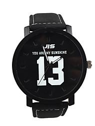 Улучшенный моды кожаный ремешок кварца наручные часы для любителей модного аксессуара
