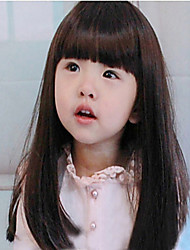Children Straight Bangs Long Straight Hair Wig