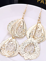 Tropfen-Ohrringe Aleación Modisch Gold Schwarz Silber Schmuck 2 Stück