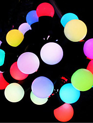 5PCS X 5M with RGB 50lights Christmas Lighting/3WLed holiday lighting/IP44 Copper wire with plug