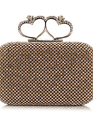 L.WEST® Women's Noble And Elegant Heart DiamondsParty/Evening Bags