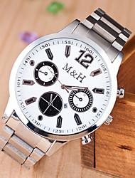w&h la mode montre bracelet en acier