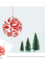 New Year Christmas Day Garland Gift Pattern Wall Sticker