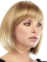 "New Bob Hairstyle 1"" Monofilament Top Human Virgin Remy Hair Short Straight Wig"