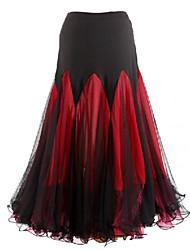 Ballroom Dance Dresses&Skirts Women's Performance Chiffon Milk Fiber Draped 1 Piece Skirt 90