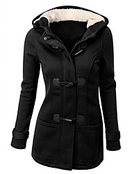 Women's Winter Warm Hood Long Sleeve Casual Thicken Parka Coat