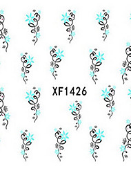 1 PCS 3D Water Transfer Printing Nail Stickers XF1426