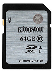 Kingston 64GB Clase 10 SD/SDHC/SDXCMax Read Speed20 (MB/S)Max Write Speed10 (MB/S)