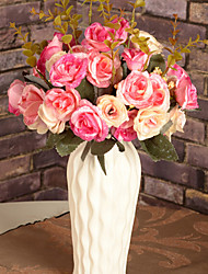 Silk / Plastic Roses Artificial Flowers