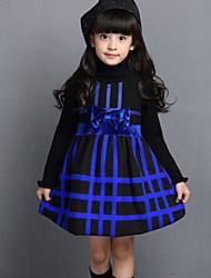 Vestido Chica de - Invierno / Primavera / Otoño - Poliéster - Azul / Rojo