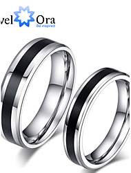 Ring Fashion Party Jewelry Steel Women Band Rings 1pc,One Size Black