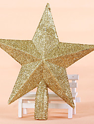 "2PCS/SET 20CM/8"" Christmas Tree Ornaments Outdoor Decorations Golden Star New Year Party Supplies Stars Pendant"
