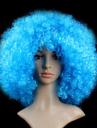 Black Afro Wig Fans Bulkness Cosplay Christmas Halloween Wig Light Blue Wig