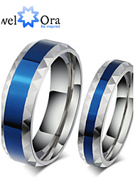 Ring Fashion Party Jewelry Steel Women Band Rings 1pc,One Size Blue