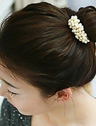 Woven Beaded Hair Ring Pearl Hair Circle