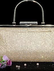 Women PU Evening Bag Gold / Black