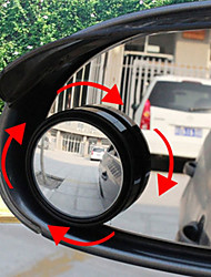 2PCS Car Mirror Wide Angle Round Convex Blind Spot Mirror For Parking Rear View Mirror Rain Shade Without Retail Box