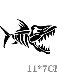 Funny Fish Bones Car Sticker Car Window Wall Decal Car Styling