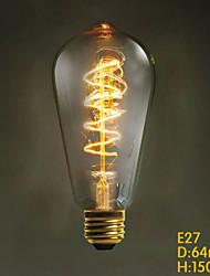 E27 60W ST64 Wickel edison Retro- dekorative Lampe