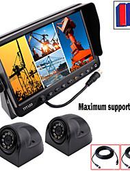 renepai® 7-Zoll-4 in1 HD-Monitor + HD-Bus Rückfahrkamera wasserdichte Kamera-Videorecorder (Unterstützung 32GB) 9V ~ 36V