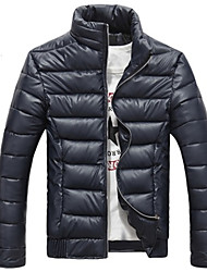 Men's Stand Coats & Jackets Plus Size, Cotton Long Sleeve Casual / Work Fashion Winter Wshgyy