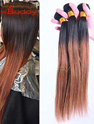 """3pcs / lot 8 """"-30"""" brésilien 1B30 de la couleur des cheveux vierge de cheveux humains ombre droite tisse"""